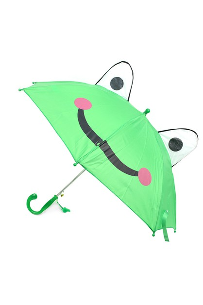 Kids Green Frog Umbrella - orangeshine.com