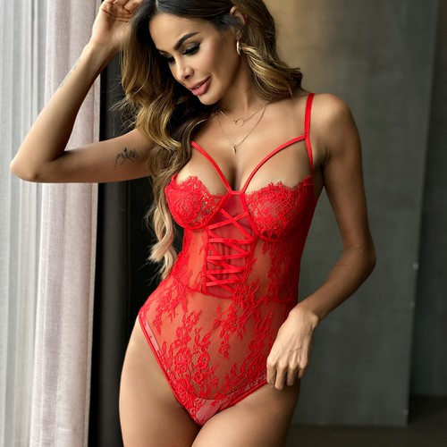 Sexy Lace Bodycon Lingerie Nightwear - orangeshine.com