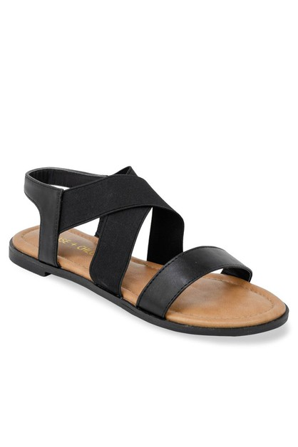 Open toe flat sandals - orangeshine.com