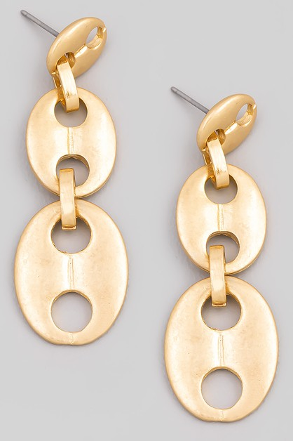 Mariner Chain Drop Earrings - orangeshine.com