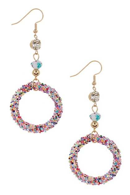Glitter Dangle Earring - orangeshine.com