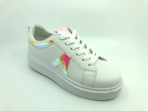 Iridescent Multi Lace Up Sneakers - orangeshine.com