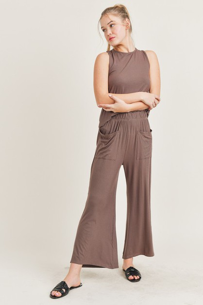 Wide Leg Pant Lounge Set - orangeshine.com