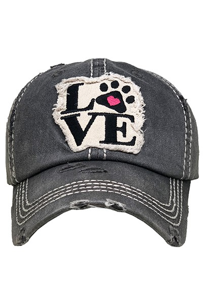 LOVE Paw Heart Hat - orangeshine.com