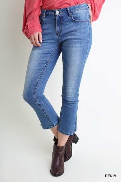 Stone Washed Kick Flare Jean - orangeshine.com