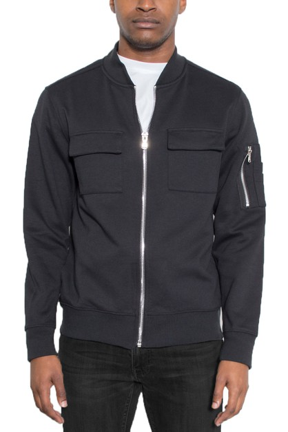 Mens Cotton Zip Up Jacket - orangeshine.com
