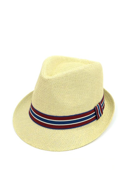 Woven Fashion Trilby Fedora - orangeshine.com