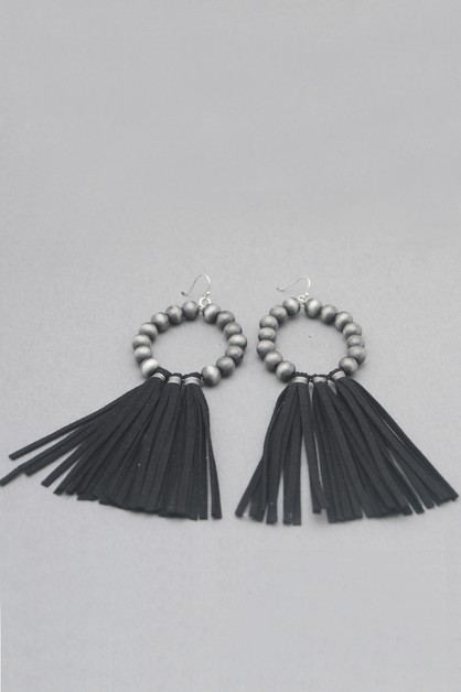 TASSEL DANGLE EARRINGS - orangeshine.com