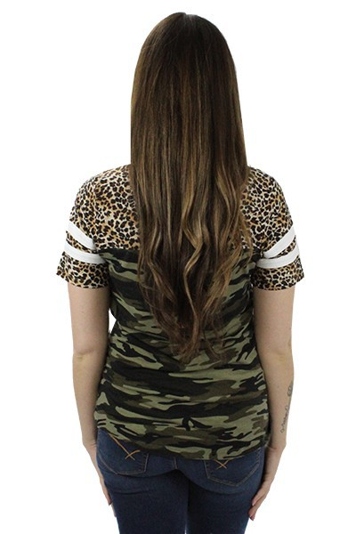 Leopard and Camouflage Top - orangeshine.com