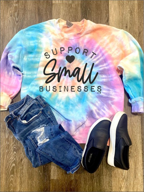 Support Small Businesses Tie Dye - orangeshine.com