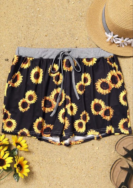 Sunflower Shorts - Juniors - orangeshine.com