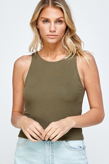 DOUBLE LAYER SLEEVELESS TOP - orangeshine.com