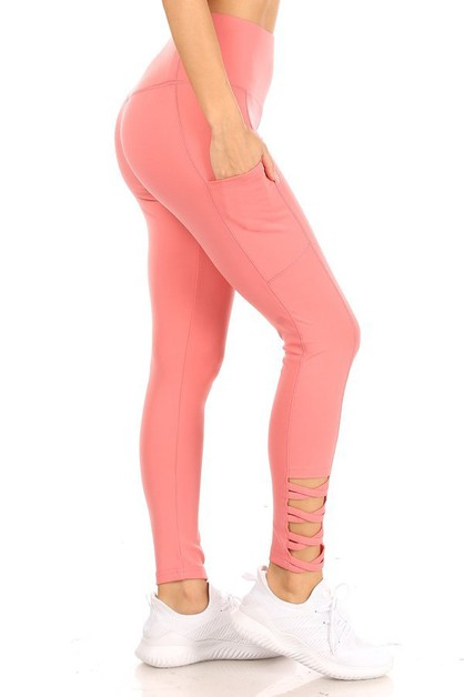 Criss Cross Sports Leggings Yoga - orangeshine.com