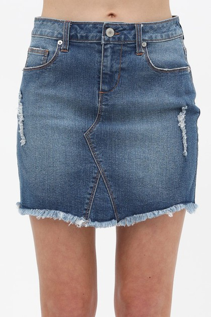 DENIM MINI SKIRT - orangeshine.com