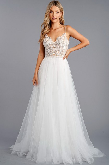 Sleeveless Bridal Gown - orangeshine.com