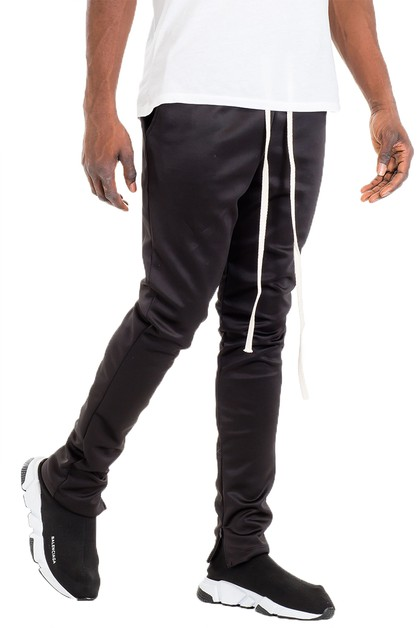 Solid Color Skinnt Track Pants - orangeshine.com
