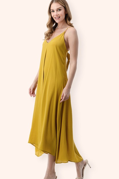 Tie-Back Beach Cover Up Midi Dress - orangeshine.com