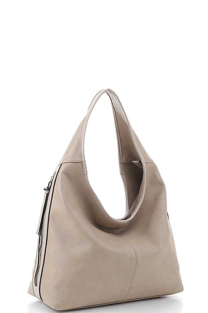 FASHION ZIPPER HOBO BAG - orangeshine.com