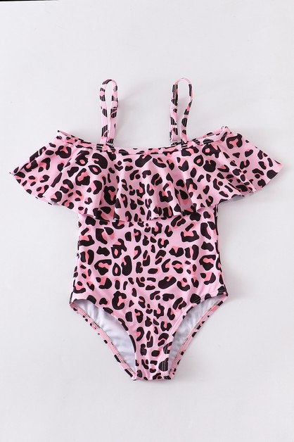 Pink leopard swim bathing suits momm - orangeshine.com
