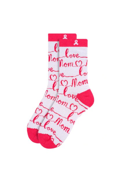 Womens Love Mom Novelty Socks - orangeshine.com