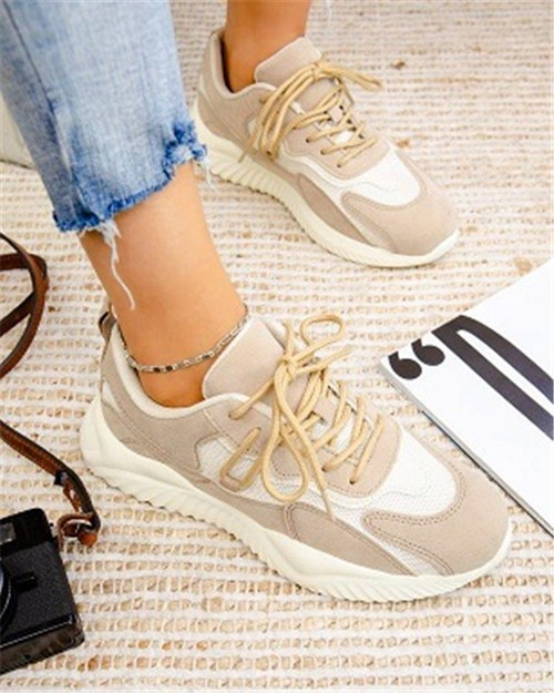 Lace up Fashion Sneaker - orangeshine.com