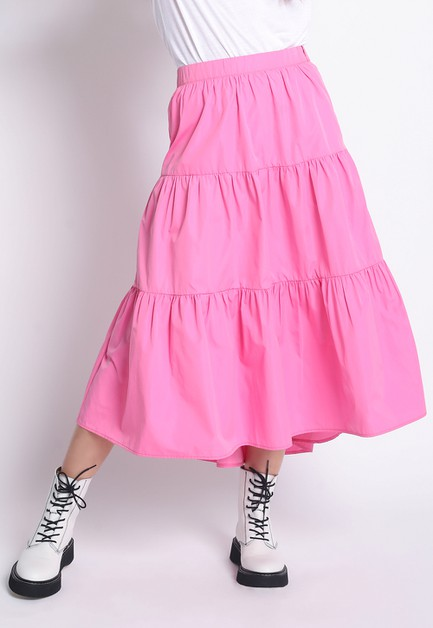 TIERED HI LO MIDI SKIRT - orangeshine.com