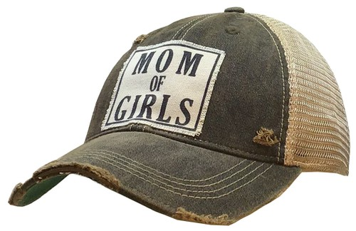 Mom of Girls Trucker Hat - orangeshine.com