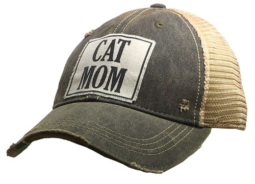 Cat Mom Trucker Hat - orangeshine.com