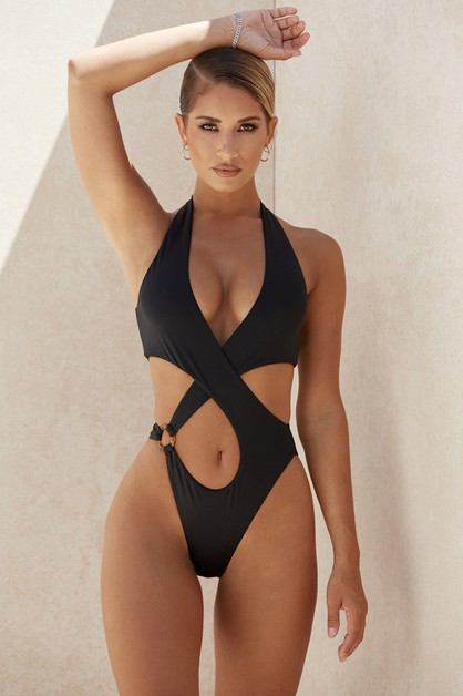 Sexy Cut Out Monokini Swimwear - orangeshine.com