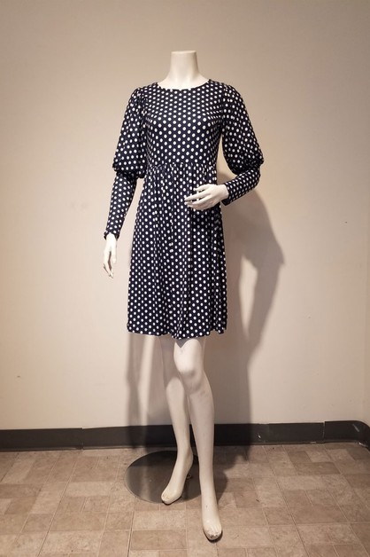 polka dot puff dress - orangeshine.com