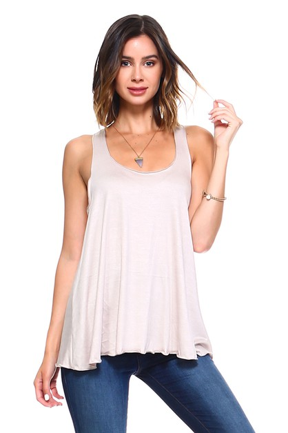 Flowy Racerback Tank Top - Plus - orangeshine.com