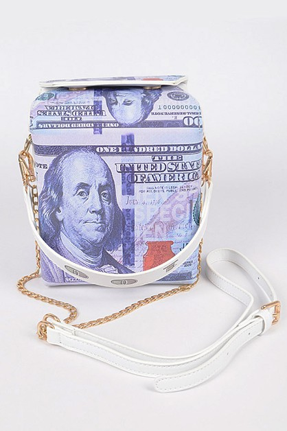 New Hundred Bill Take Out Box Clutch - orangeshine.com