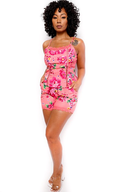2 PC FLORAL SHORT SET - orangeshine.com