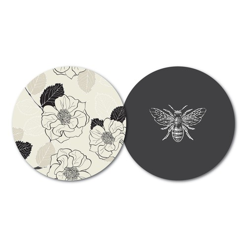 Set of 10 Luxury Paper Coasters - orangeshine.com
