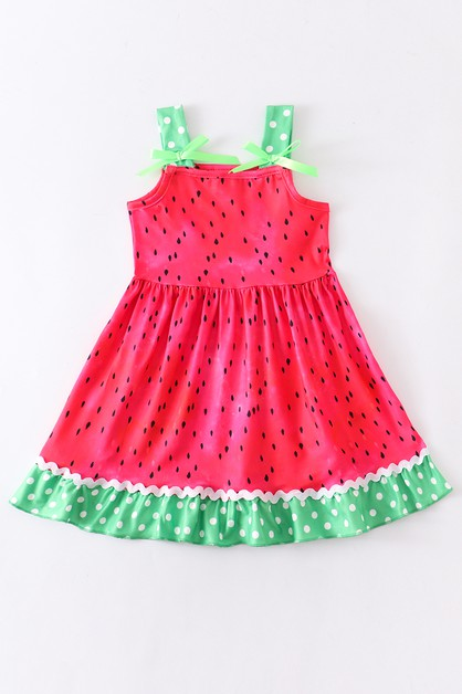 Watermelon ruffle dress - orangeshine.com