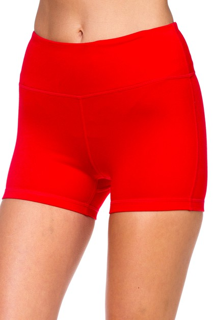 Womens Active Fitness Yoga Shorts - orangeshine.com