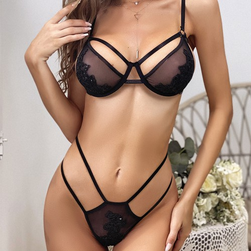 Sexy Lace Lingerie 2pcs Set - orangeshine.com