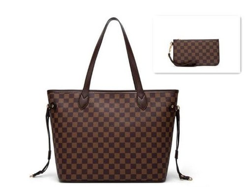 Oversized Checkered Tote - orangeshine.com