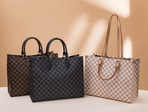 Checkered tote bags - orangeshine.com