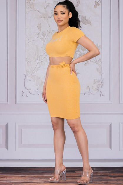 Angel One Shoulder Dress And Top Two - orangeshine.com