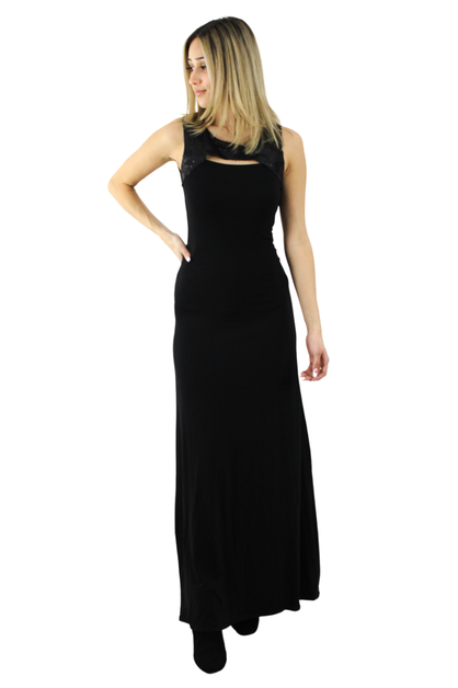 Sleeveless Cocktail Maxi Dress - orangeshine.com