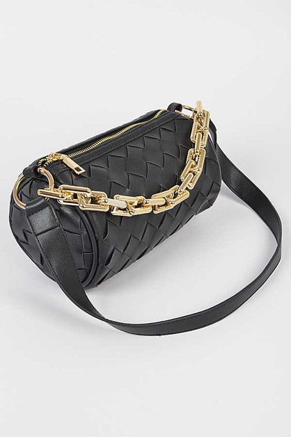 Weaved Chunky Chain Crossbody Bag - orangeshine.com