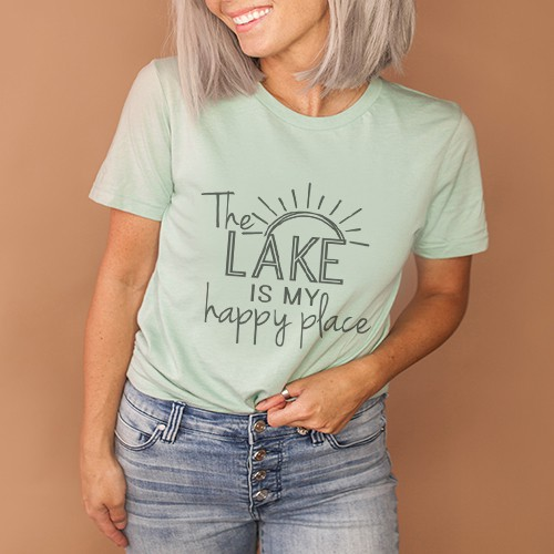 The Lake Is My Happy Place - orangeshine.com
