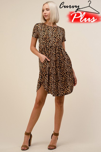 LEOPARD PRINT FIT N FLARE DRESS - orangeshine.com