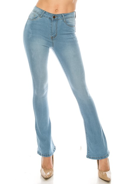 Light Denim Skinny Jeans - orangeshine.com