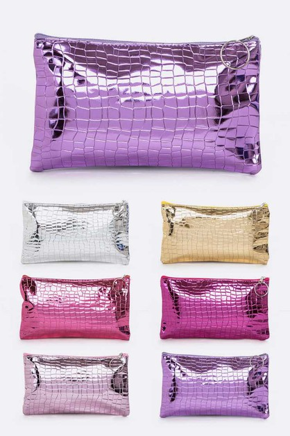 Embossed Metallic Pouch Set - orangeshine.com