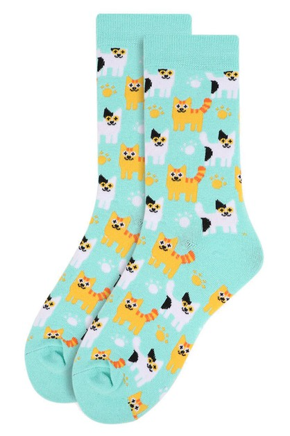 Womens Kittens Pattern Novelty Socks - orangeshine.com