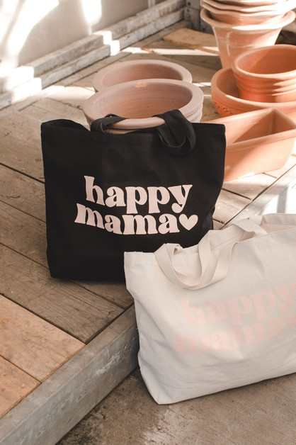 Happy Mama Tote Bag - orangeshine.com