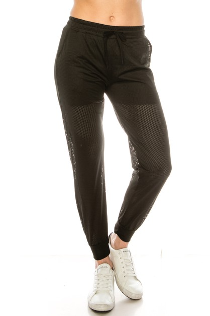 Fashion mesh jogger pants - orangeshine.com