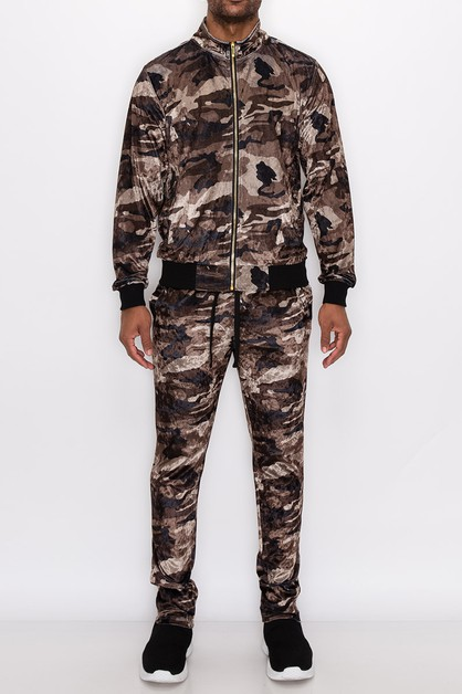 MEN VELVET BANDADA TRACK SUITS - orangeshine.com